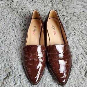 JUST FAB Maroon Dress Loafers